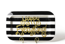 Happy Everything Mini Rectangle Platters - Black Stripe