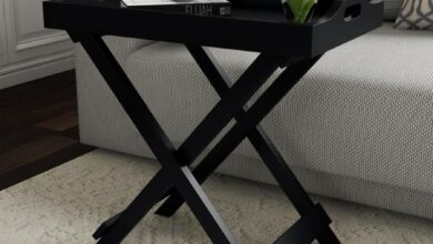 Hastings Home Hastings Home End Tables Black Wood End Table | 813380CHY