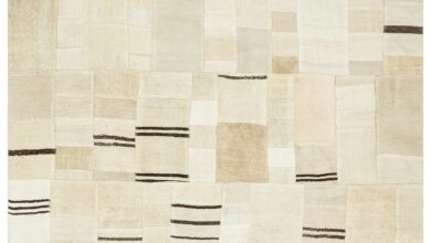 Hemp Over Dyed Patchwork Area Rug 8'1'' x 10'5'' ft 247 x 317 cm
