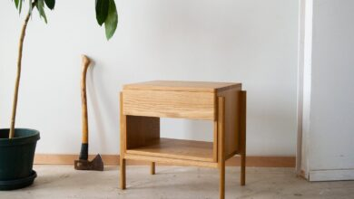Henrik Nightstand   side table with a drawer - white oak
