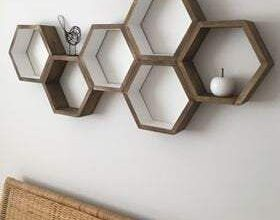 Hexagon Shelf add-on, Add two interior shelves to any shelf order form our shop