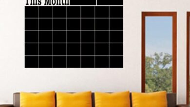 Home Office Decor Chalk Board Blackboard Month Calendar Wall Sticker Gift - as the picture x