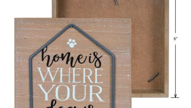 Home is Where Your Dog Is Tabletop Decor Sign