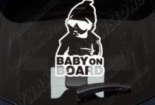 Hoodie baby on board funny Car Decal  files Silhouette Cameo svg jpg dxf design for iron on heat transfer decal vinyl  window bumper