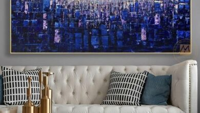 Horizontal canvas painting lienzos cuadros decorativos modernos canvas picture home deco landscape painting for living room wall - 90x200cm No frame / Burgundy