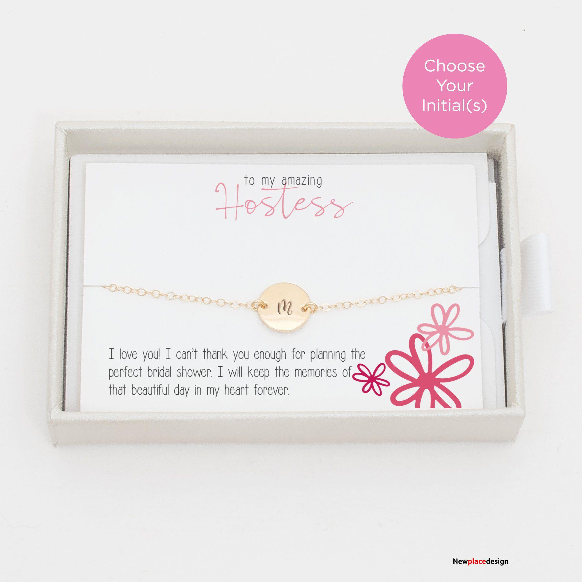 Hostess Thank You Gift Bracelet - Petite (9mm) / Sterling Silver / Single Sided