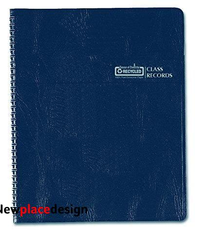 House of Doolittle Class Record Book, Blue/White, 11 x 8 1/2