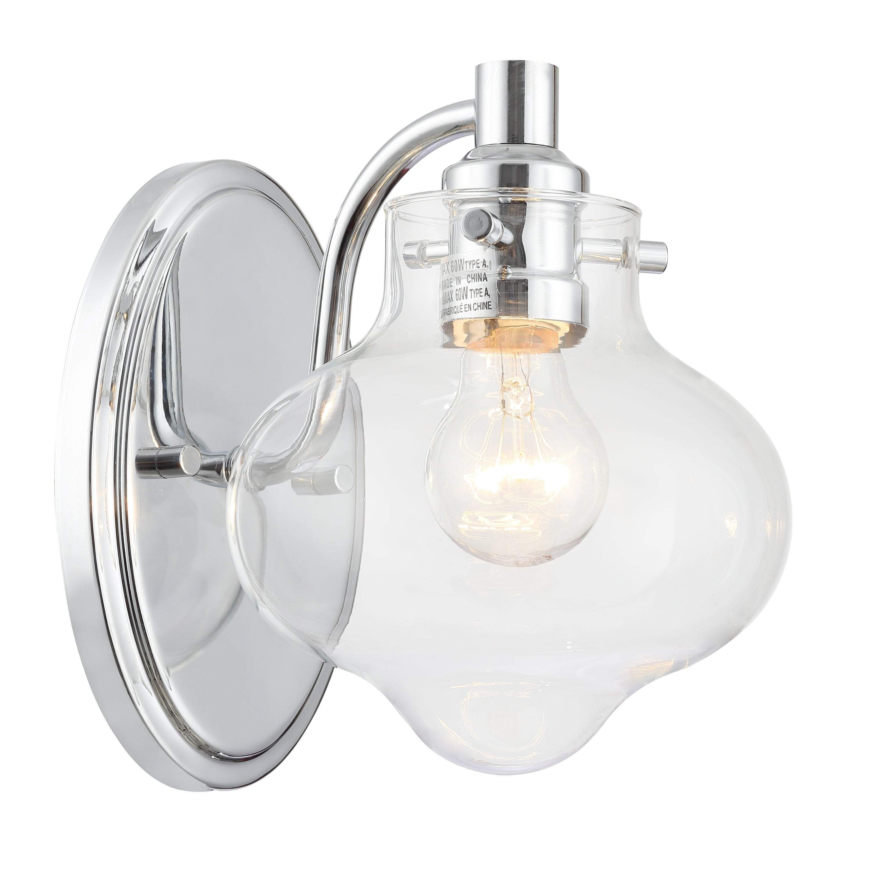 Industrial 1-light Polished Chrome Wall Sconce