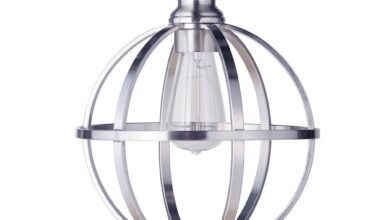 Instant Pendant Light with Brushed Nickel Cage Shade - Brushed Nickel Traditional / No