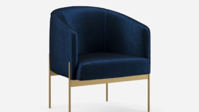 Interlude Chair - Cobalt Endurance Velvet / Brushed Brass