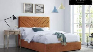 Islington Fabric Bed Frame Collection - Double / Orange