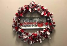 It's Beginning To Look A Lot Like Christmas flannel rag wreath