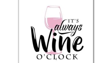 It's Wine O'clock Saying Canvas Print Frame - 13x18cm no frame / 3