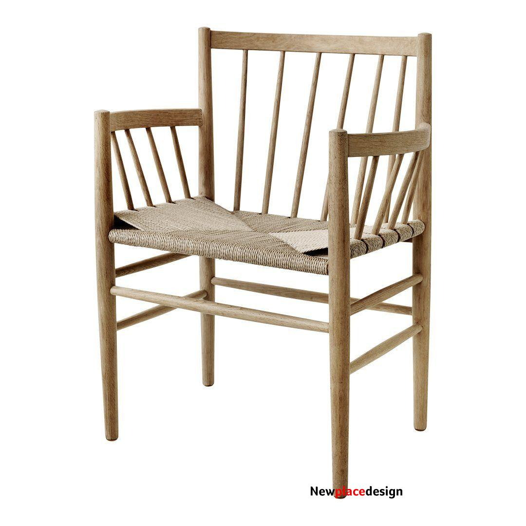 J81 Chair - Oak - Lacquered / Nature Papercord