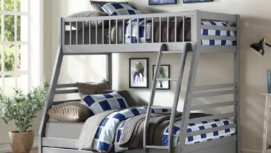 Jason Twin/Full Bunk Bed with Drawers - Gray