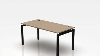 Jot Desk - 24 x 48 / White Oak / Black