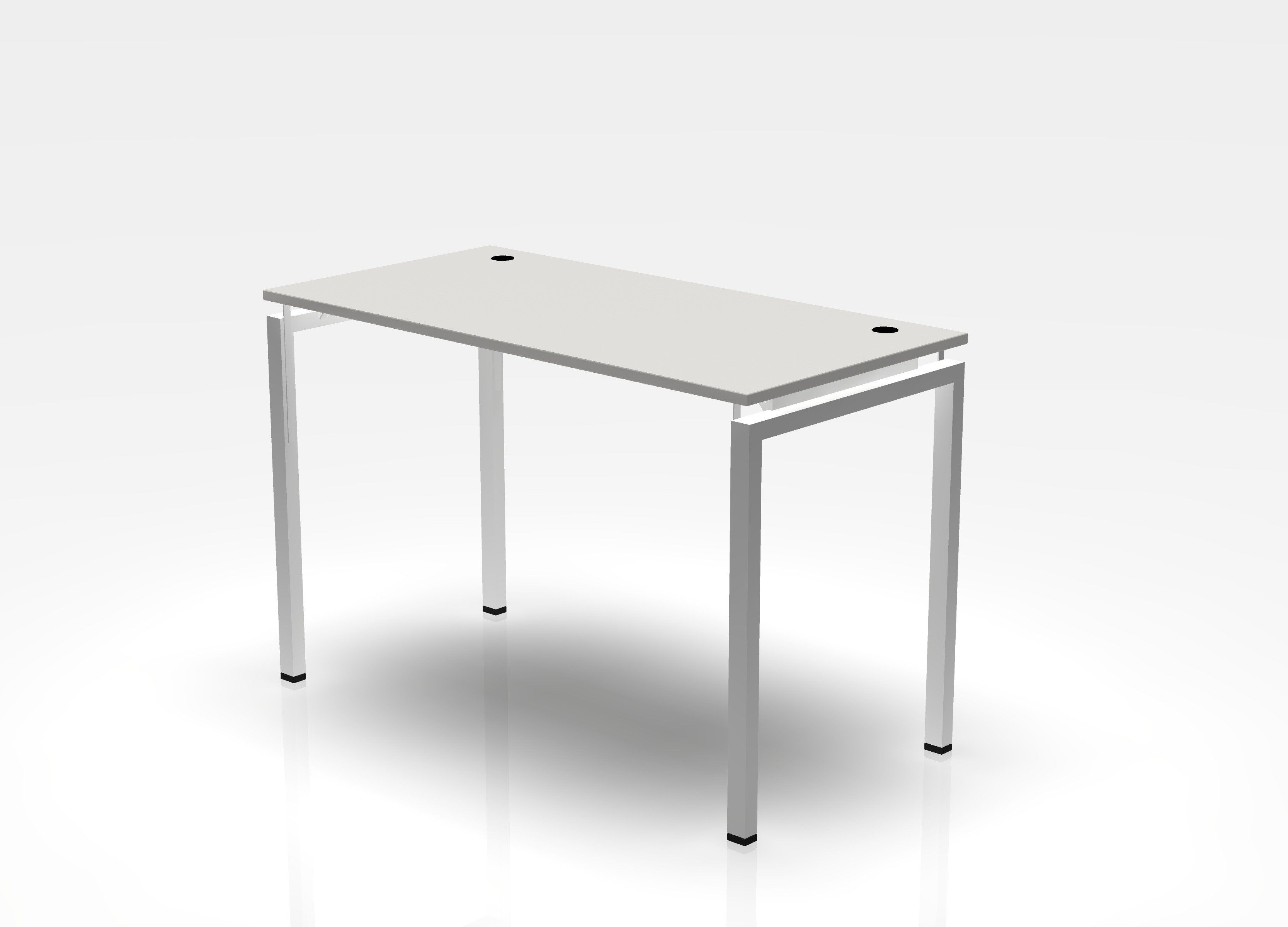Jot Desk - Standing Height - 30 x 48 / Electric White / White