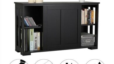 Kitchen Storage Cabinet Buffet Server Table Sideboard Dining Room Wood