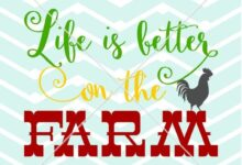 LIFE IS BETTER on the Farm western country southern vinyl decal screen print tshirt wall  Digital Fi