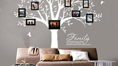 LUCKKYY Grant Family Tree Wall Decal with Family Like Branches on a Tree Wall Decal Sticker Quote(102 Wide x 91 high) - White