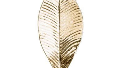 Large Brass Leaf Wall Candle Holder