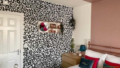 Large Leopard Print Wall Stickers - Single Pack