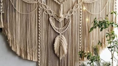 Large Macrame Backdrop, Extra large Macrame Wall Hanging with tassels, Macrame Mural, Hanging wall d