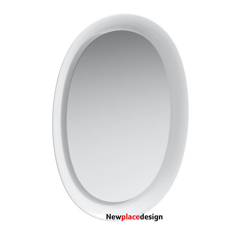 Laufen The New Classic 500mm Oval Mirror with LED light for room switch - 500 x 700 x 80mm - White