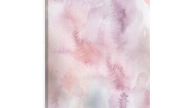 Lavender Watercolor, Canvas Abstract Wall Art - 24″ × 30″ / Premium Gallery Wraps (1.25″)