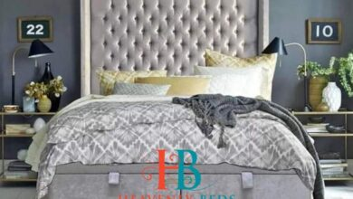 Layla Wingback Bed Frame Ottoman Storage Available