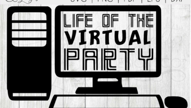 Life of the Virtual Party SVG | Zoom SVG | Social Distancing SVG