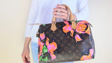 Louis Vuitton Limited Edition Stephen Sprouse Monogram Canvas Roses Speedy 30 Bag