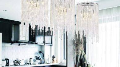 Luxury Linear Round Chrome Hanging Chandelier - A: D9.5 * H12.6 / Cold White