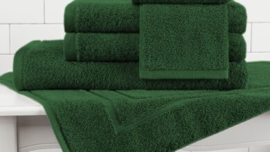 Made in the USA 100% Cotton Luxury Towel 6-Piece Set - Hunter / 6-Piece Set (2 Bath Towels 2 Hand Towels 2 Wash Cloths)
