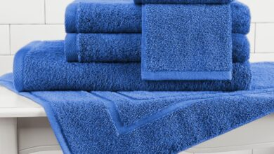 Made in the USA 100% Cotton Luxury Towels - Marine / **Special 4-Piece Set** (1 Bath Sheet, 1 Hand Towel, 2 Wash Cloths)