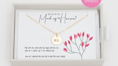 Maid of Honor Gift Charm Necklace - Gold Fill / 4 / Single Side