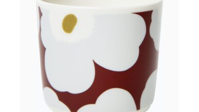 Marimekko Unikko Coffee Cup, Set of 2, No Handle