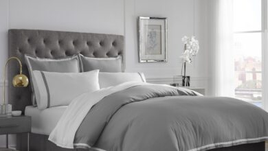 Martex 2000 Series Ultra Soft Microbrushed Duvet Cover Set - Twin / Gray/White