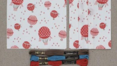 Menagerie baby quilt kit - Balloons- Brushed Cotton