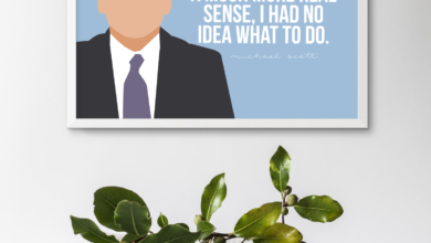 Michael Scott Art - I knew exactly what to do Quote - 8x10