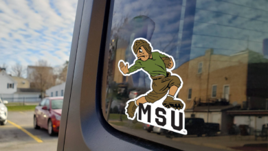 Michigan State University Leatherhead Sparty Car Decal