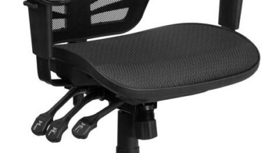 Mid-Back Transparent Black Mesh Swivel Ergonomic Office Chair with Adjustable Arms