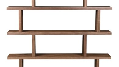 Miri Shelf Large Walnut - Brown