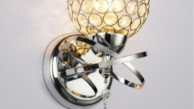 Modern Crystal Shape Wall Light Sconce Bedroom Lampshade Lamp Mount Home Decor - Silver