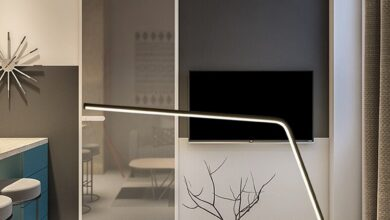 Modern Minimalist Style Dimmable Long LED Table Lamp for Christmas Gift, Living Room, Bedroom, Dinning Room, Interior Design