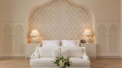 Moroccan Bedroom Design No.2 from Marrakech Casbah Mansion Custom Home (Palm Desert)