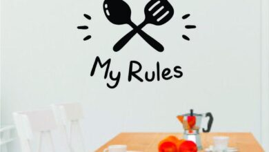 My Kitchen My Rules Wall Decal Sticker Bedroom Room Art Vinyl Home Decor Teen Food Kitchen Family Funny Love Eat Chef Cook Mom - black