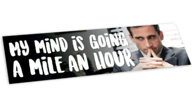 My Mind is Going a Mile an Hour Bumper Sticker - The Office Merch