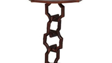 Noble House Jaxon Modern Handcrafted Aluminum Accent Table, Raw Copper, Brown