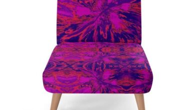 Occasional Chair, Angry Sky Pink, Purple & Red Collection